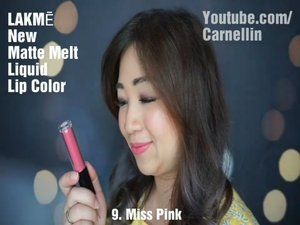 @lakmemakeup New Matte Melt Liquid Lip Color in 6 beautiful shades.  Full review available on my Youtube channel.  In Bahasa Indonesia and soon English.  #lakme #vlog #video #clozetteID #beautyvideo #newlipcolor #beautyvloggerindonesia #mattelips #redlips #newlippies #pinklips #mauve #makeup