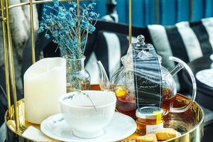 Good morning!! Have your tea and get ready for the day. #tea #teapot #teaparty #beauty #goodmorning #love #Clozetteid #photography #photooftheday #hello #cupoftheday #cupoftea #blueflowers #breakfast #igdaily #igers #styletoday #art #decoration #restaurantdesign