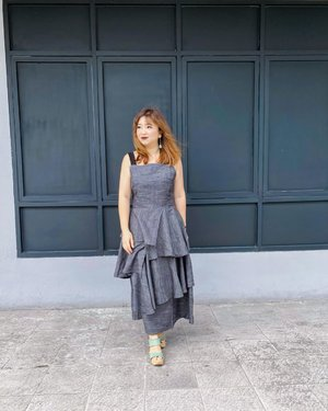Suddenly sunny and breezy. ______#ootd using @andotherdays #clozetteID #potd #motd #andorherdays #dressoftheday #dressedup #hello #jakartalife #photography #photographyoftheday #igstyle #igfashion #greydress #lifestyle