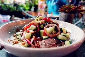Salad model acar 😂  #foodoftheday #salad #ClozetteID #healthyfood #lunch #fresh #love #veggies #musttry #ketosis #ketodiet #freshfood #yums