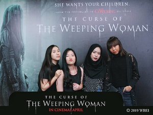"Ok, ternyata gw se-cupu itu. Mencoba memberanikan diri datang ke premiere ""The Curse of The Weeping Woman"", tapi pas film mulai udah jerit. Buat penggemar film suspense horror, this movie is a must. All I can say is, NO CHILL. I kid you not, kalian ga dikasih nafas begitu film dimulai, plus, disturbing backsound, ini efek tergila sih. But, I got a memorable message from this movie : .""You don't have to be religious to have faith."" Very well noted father!.Well, thank you so much @clozetteid for having me. Until next time #TheWeepingWomanID #ClozetteID"