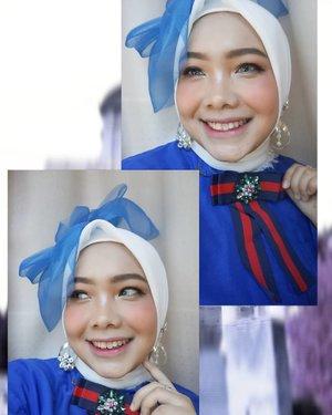 Biru, sebiru hatiku~ lagi siap-siap ikut lomba makeup bareng @mncchannels @venuscosmeticind di Cirebon, siapa yang ikutan juga? #HBFEST2019 #MNCCHANELS #VenusForYourBestBeauty #clozetteID