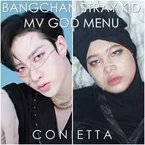 Happy weekend 💫 Biar semangat pagi dengerin lagu yang ngebeat gini enak kali ya, apalagi emak-emak sambil masak dengerin lagu @realstraykids God Menu. Berasa pengen matahin talenan gak sih wkwkw. Kali ini makeup ala leader Bangchan, seru juga ternyata makeup ala idol cowok 💪 . . . #kpopmvmakeup #kpopmakeuptutorial #clozetteid #straykid #bangchanstraykid #straykidgodmenu #ConiKpopMakeup
