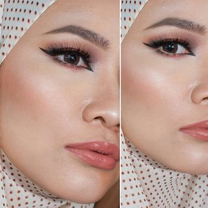#halffacemakeup from yesterday, on lips is @makeoverid Creamylust Lipstick in Clover Haze. Other details are on my previous post. 😘😘😘 #merilla_may #looxperiments #clozetteid #anastasiabeverlyhills #nikkietutorials #esteelauder #dressyourface #makeupfanatic1 #wakeupandmakeup #maryammaquillage #maryamnyc #brian_champagne #thepowerofmakeup #makeoverid