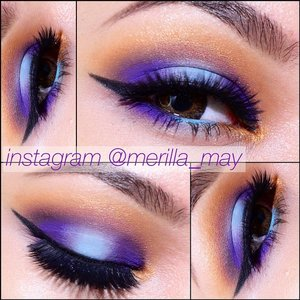 Viocyan, violet with a lit of cyan 😊💜 Details: -Etude House Drawing eyebrow pencil no.3 -Lorac Behind the Scenes eye primer - @sleekmakeup snapshot palette shade Purple Haze, Tequila Sunrise, Summer Breeze, Martini -Lorac eyeshadow Sable -L'Oreal Voluminous Black -Maybelline Lasting Drama gel eyeliner black - @angellashescollection Pretty Doll  #merilla_may #vegas_nay #mayamiamakeup #maryamNYC #maryamMaquillage #Looxperiments #itzyireri #stylebycat #glamourgasm_ #naye0na #clozetteID #pala_foxxia #bossassmakeup #OADmakeup #makeupmobb #makeupbyme #jlinhh #sebastienMUA #makeupfanatic1 #makeupgame #batalash #beauty  Happy Weekend Loves 😘😘😘