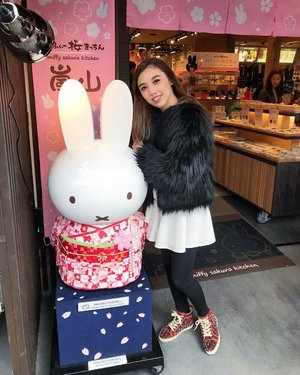 Hi Miffy, it's nice to meet you.... 🐇..I always fall in love with Japan over and over again. Not just because of their food (which always super delicious), but also because everything in Japan looks very cute 💕 .#DoubleTap if you agree with me!.....#instaphoto #instalife #instatravel #igtravel #travelgram #travelblog #travelpost #japantravel #japantrip #ilovejapan #jntoid #cute #kawaii #miffy #miffysakurakitchen #arashiyama #kyoto #visitjapan #likes #follow #blogger #fashionblogger #travelblogger #travelinglady #iamtb #ClozetteID #StellangelitaInJapan