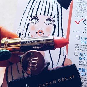 Can't stop until I have half of their shades! This one's Streak. #urbandecay #makeup #makeupaddict #makeupporn #makeupjunkie #instabeauty #beauty #beautyaddict #beautyjunkie #fdbeauty #motd #clozetteid #clozettedaily #clozette #lipstickoftheday #lipstick #lips #nudelips #brownlips #pinklips #pinklipstick #trend #trending #beautygram #makeuphaul #beautyhaul #makeupoftheday #selfmakeup #sephora