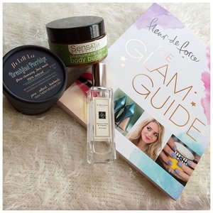 Enjoy Today 😘 #jomalone English Pear & Freesia Cologne#thebathbox Breakfast Porridge Face Mask#sensatiabotanicals Phenomenal Cacao Body Butter#fleurdeforce The Glam Guide#sunday #weekend #favorites #femaledaily #clozetteid #fdbeauty #skincare #beauty #glam #glamguide #englishpear #freesia #love #nature #scent