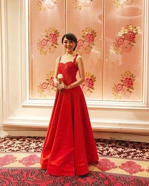 Andi and Patricia (Ling-ling) wedding last night... Dress by : @monica_divine_yuliana @divineduchess  MUA by : @sylvia_mkp #andipatricia #dress #reddress #gown #eveninggown #bridal #clozetteid #lookbook #lookbookindonesia #sunday #happysunday #fashion #fashionstyle #ootdindo #red #clozetteambassador