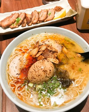 What's for lunch today ? This one can be an option ! Tamago ramen with fried pork slice 🍜🥓 #ramen #porkramen #ramennoodles #ramenlover #ramenaddict #food #foodphotography #foodie #instafood #instadaily #clozetteid