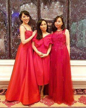 sisters in Red #red  #bridal #dress #dressy #reddress #siblings #clozetteid