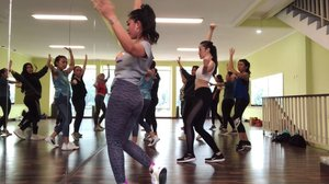 Throwback Zumba Session @kor.studio with my favourite instructure @ratuintan81 ❤️ #zumba #zumbafitness #zumbaclass #zumbadance #zumba💃 #zumbaworldwide #zumbaindonesia #zumbacommunity #fitness #fit #fitnessgirl #fitnessmotivation #instagram #instadaily #takitaki #takitakichallenge #takitakidance #takitakirumba #clozetteid #korstudio