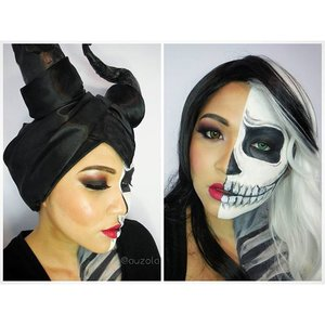 When you can't decide whether you want to be twisted Maleficent or twisted Cruella de Vil. One makeup, two villains!  #makeup #halloween #halloweenmakeup #vegas_nay #mayamiamakeup #makeup  #anastasiabeverlyhills #hudabeauty #lookamillion #norvina #fcmakeup #zukreat #muajakarta #pinkperception #dressyourface #auroramakeup #lvglamduo #clozetteid #fotdibb #indonesianbeautyblogger #indobeautygram #mikasabeauty #maleficent #cruelladevil #disney #disneyvillains #villains
