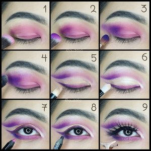 #auzolatutorial Tutorial for my previous look! . 🌟Eyes🌟 1. Aplikasikan eyeshadow pink pada keseluruhan kelopak. 2. Tambahkan warna ungu di bagian ujung luar dan blend. 3. Baurkan dengan ungu tua ke arah luar, memanjang ke ujung alis. 4. Tambahkan warna champagne pada tulang alis. 5. Blok kelopak mata bagian tengah menggunakan concealer. Sisakan eyeshadow di bagian bawah membentuk cat eye. 6. Bubuhkan eyeshadow champagne pada bagian yang di-concealer. 7. Gunakan eyeliner pink pada waterline. Untuk bagian bawah mata, dari ujung luar ke arah dalam, tambahkan eyeshadow secara berurutan; ungu tua, ungu dan pink. 8. Gunakan eyeliner tipis2 hanya untuk membingkai mata. 9. Gunakan mascara dan tambahkan fake eyelashes. . 🌟Face🌟 1. Gunakan concealer pada bagian yang dibutukan. 2. Aplikasikan foundation menggunakan sponge dengan cara ditepuk-tepuk hingga merata. 3. Contour wajah; pipi, hidung, rahang, dan jidat. 4. Tambahkan blush on pink tepat pada pipi. 5. Gunakan highlighter pada tulang pipi, tulang hidung, cupid bow, dagu dan pelipis. 6. Aplikasikan lipstick nude pink. . Done! . . . . #colorfulmakeup #colorful #summer #summermakeup #wakeupandmakeup #makeupforbarbies @makeupforbarbies #beautybloggertangerang @beautyblogger.tangerang #indonesianbeautyblogger @indobeautyblogger  #undiscovered_muas @undiscovered_muas #bloggerceria @bloggerceriaid #clozetteid #fdbeauty #indobeautysquad  @indobeautysquad @tampilcantik #tampilcantik #mua_army #fantasymakeupworld #100daysofmakeup #beautybloggerindonesia @beautyblogger_indonesia