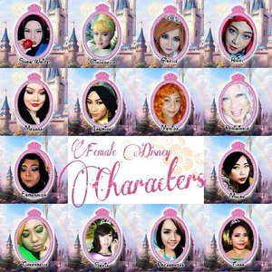 """Check out my collaboration makeup with 13 other beauty bloggers on www.rainbowdorable.com! The theme is """"Female Disney Character!"""", can you guess which one i am? For a hint, i'm the one with super less makeup and orange frizzy hair! 😙😙 #disney #disneycosplay #disneyprincess #clozetteid #fotdibb #cosplay #princesscosplay #princess #merida #brave #ariel #periwinkle #cinderella #snowwhite #giselle #pocahontas #mulan #esmeralda #jasmine #tinkerbell #sofia #megara #tiana #collaboration #makeup #indonesianbeautyblogger #beautyblogger"""