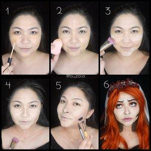 Pictorial for my Red Corpse Bride look. . Well, I explain the steps later, i'm ironing now 👌 . . . . #halloweenmakeup #halloween #corpsebride #emily #timburton #wakeupandmakeup #makeupforbarbies  #indonesianbeautyblogger #undiscovered_muas @undiscovered_muas #clozetteid #indonesianbeautyblogger #indobeautysquad #indobeautygram #fdbeauty #tampilcantik #mua_army #fantasymakeupworld #100daysofmakeup