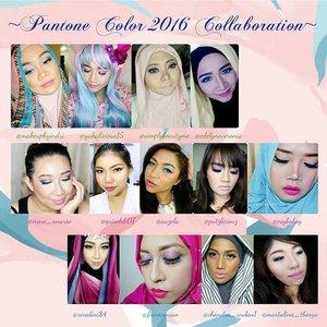 Pantone color 2016 collaboration with  12 other beauty bloggers! Blog post with details and tutorial coming soon guys! 😍#makeup #eyemakeup #vegas_nay #mayamiamakeup #anastasiabeverlyhills #hudabeauty #lookamillion #norvina #fcmakeup #zukreat #muajakarta #jakarta #indonesia #pinkperception #dressyourface #auroramakeup #lvglamduo #clozetteid #fotdibb #blogger #indonesianbeautyblogger #nudelip #indobeautygram #pantone #serenity #rosequartz #pantone2016