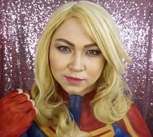 One more of my Captain Marvel makeup 😁 . Di makeup ini aku ada pakai produk @pac_mt: - PAC Perfect Finish Blush On Kit - PAC Matte Lipstick Alluring Red (buat bagian tengah bibir baru di top sama lipstick pink) - PAC Eyeshadow Powder no.S13c - PAC Intense Color Eyeshadow Pencil Citrus Hue #PACsuperherochallenge #xPACtation #PACmarthatilaar @pac_mt . . . .  #marvel#avengers #caroldanvers #wakeupandmakeup  #makeupforbarbies @makeupforbarbies #beautyblogger #beautybloggerindonesia #dressyourface #hudabeauty #undiscovered_muas #bloggerceria @bloggerceriaid #bloggermafia #clozetteid #fdbeauty #indobeautysquad @indobeautysquad #beautybloggerindonesia @tampilcantik #tampilcantik #beautyjunkie @beautyblogger.tangerang #BeautyBloggerTangerang #makeupgeek #beautychannelid #beautiesquad @beautiesquad