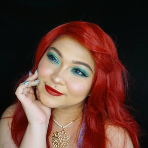 Ariel makeup inspired with red wig 💕.Kangen juga cosplay deh😍...#thelittlemermaid #ariel #disney #disneyprincess #mermaid #clozetteid #cchannelbeautyid #fdbeauty #redlips
