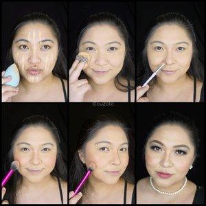 Nah ini step buat jadi bibik-bibik tajir ala sinetronnya 😁 . 💸Face:💸 1. Gunakan concealer, lalu tutupi dengan foundation menggunakan sponge. 2. Gunakan bedak pada wajah. 3. Shading pipi, rahang, jidat dan juga hidung. 4. Gunakan blush on peach secukupnya pada bagian pipi. 5. Tambahkan highlighter biar makin paripurna kaya saldo atm-nya. 6. Buat eyemakeup dan gunakan lipstick pink. Jangan lupa perhiasannya biar bisa pamer ke rakyat jelata 👌 . 💸Eyes:💸 1. Aplikasikan eyeshadow kecoklatan dan blend. 2. Tambahkan eyeshadow abu gelap pada ujung luar mata dan blend ke arah dalam. 3. Blok kelopak menggunakan concealer. 4. Tambahkan eyeshadow orange pada kelopak. 5. Baurkan dengan eyeshadow abu2. 6. Tambahkan eyeshadow warna pearl pada ujung dalam mata dan jg tulang alis. 7. Tambahkan warna coklat pada ujung luar mata bagian bawah dan warna orange ditengahnya dan blend ke arah warna pearl. 8. Aplikasikan eyeliner membentuk cat eye. 9. Gunakan maskara dan aplikasikan bulu mata palsu agar tatapan bisa semakin sombhonk dan kejam 👌 . . . . #wakeupandmakeup #makeupforbarbies @makeupforbarbies #beautybloggertangerang @beautyblogger.tangerang #indonesianbeautyblogger @indobeautyblogger #undiscovered_muas @undiscovered_muas #bloggerceria @bloggerceriaid #clozetteid #fdbeauty #indobeautysquad @indobeautysquad @tampilcantik #tampilcantik #mua_army #fantasymakeupworld #100daysofmakeup #beautybloggerindonesia @beautyblogger_indonesia