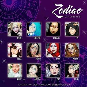All the amazing and talented ladies for Zodiac makeup collaboration by @atomcarbonblogger ! . Don't forget to check out and follow their IG 😍 Yay! New year means new makeup collaboration! . Capricorn - @reredini84 Aquarius - @everonia7 Pisces - @bycleoputri Aries - @lilintanggg Taurus - @fiarevenian Gemini - @yukalicious15 Cancer - @simplybeautyme Leo - @chandra_wulan1 Virgo -  @nindyz Libra - @auzola Scorpio - @esybabsy Sagitarius - @irene_unarso . Photo edit:  @nindyz . . #vegas_nay #wakeupandmakeup #anastasiabeverlyhills #hudabeauty #influencer #beautyinfluencer #pink #pinkperception #lfl #l4l #likeforlike #dressyourface #auroramakeup #clozetteid #fotdibb #blogger #collaboration #newyear #newyear2017 #zodiac  #atomcarbonblogger #indonesianbeautyblogger #undiscovered_muas #indobeautygram