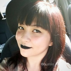 Black lips and new hair color. Check out my hair coloring experience at www.rainbowdorable.com/2015/06/experience-hair-coloring-with-loreal.html #haircoloring #haircolor #lembaranbaru #lorealparisid #lorealparis #videotutorial #hair #brownhair #brown #purple #purplebrown #clozetteid #indobeautygram #indonesianbeautyblogger #blogger #beautyblogger #tutorial #fun #exciting #beauty #coloring #color #beautyvideo #beautyjunkie #blacklips #blacklipstick #blackvelvet #limecrime