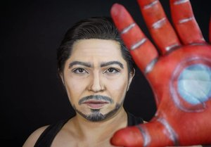 » Tony Stark « . Running out of face painting, so here goes Tony makeup look with tank top and not the suit haha. . . . . #tonystark #ironman #stark #endgame #avengers #avengersendgame #infinitygauntlet #genderbender #marvelindonesia #marvel #marveluniverse #wakeupandmakeup  #makeupforbarbies @makeupforbarbies #indonesianbeautyblogger @indobeautyblogger #undiscovered_muas @undiscovered_muas #bloggerceria @bloggerceriaid #bloggermafia #clozetteid #fdbeauty #indobeautysquad @indobeautysquad @tampilcantik #tampilcantik #mua_army @mehronmakeup #fantasymakeupworld #100daysofmakeup