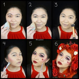 #auzolatutorial so here goes for the Red Queen makeup tutorial! The makeup is easy, it was the hair and flower pinning that drove me crazy 😂 . Steps will be update soon, need to take my baby boy to bed, lol. . . . . #auzolamakeupcharacter #dirumahaja #stayhome #wakeupandmakeup #red #redmakeup #queenofhearts #makeupforbarbies  #indonesianbeautyblogger #undiscovered_muas @undiscovered_muas #clozetteid #makeupcreators #slave2beauty #coolmakeup #makeupvines #tampilcantik #mua_army #fantasymakeupworld #100daysofmakeup #15dayscontentmarathon