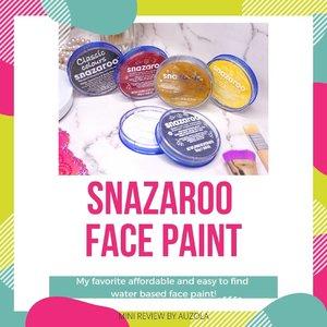 #auzolareview Yang suka nanyain aku pakai face paint apa, bisa baca mini review @officialsnazaroo face paint ini yaaa! . Ini salah satu face paint yang paling sering banget aku gunakan ❤ . Kalian bisa beli ini kaya di @gramediabooks @paperclip.indonesia dan lainnya. Selama pandemi aku sempat beli snazaroo ini di @artemedia_shop juga 😊 . . . #review #facepaint #facepainting #auzolamakeupcharacter #snazaroo  #snazaroofacepaint #makeupreview #makeup #clozetteid #fdbeauty #cchannelbeautyid #tampilcantik