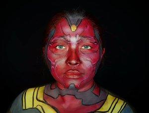 Siapa yang lagi nonton #wandavision? Aku ngga 😂 Soalnya males nonton series yang belum selesai, takut lupa akutu😂 . . . . #avengersheroes #wandamaximoff #avengersheroescollab #vision #visionmakeup #visionavengers #marvel #marvelavengers #scarletwitch #makeupforbarbies  #indonesianbeautyblogger #undiscovered_muas #wandavisionedit @undiscovered_muas #clozetteid #makeupcreators #slave2beauty #coolmakeup #makeupvines #tampilcantik #mua_army #fantasymakeupworld #100daysofmakeup  #crazymakeup #halloweencolor @halloweencolor