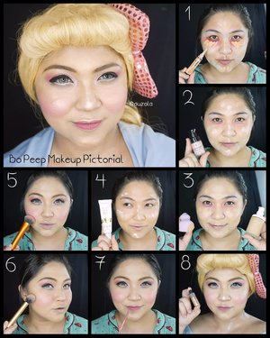 #auzolatutorial 🌟 Bo Peep Makeup Pictorial 🌟 (Swipe for eye makeup pictorial) . I also used some local makeup for this look, i'll mention below: . Complexion: 🌟Step 1 - @makeoverid Lip Color Palette Poprock Peach (Red color for undereye). - MakeOver Camouflage Cream Face Concealer (Light Green to neutralize acne redness). - @lagirlcosmetics Pro Conceal HD Concealer shade Creamy Beige 🌟Step 2 - @sephoraidn Base Sublimatrice Primer éclat 🌟Step 3 - @shuuemura Face Architect Smooth Fit Fluid Foundation Medium Beige - Blend with @minisoindo sponge 🌟Step 4 - @mustikaratuind CC Cream (to add more glow) 🌟Step 5 - Light shading (cheekbone, nose and jaw area) @toofaced Cocoa Contour & a lot of @nyxcosmetics_indonesia HD Blush in Baby Doll 🌟Step 6 - Tons of @esqacosmetics Phuket Highlighter mixed with @beccacosmetics Champagne Pop Shimmering Skin Perfector 🌟Step 7 - @wardahbeauty Exclusive Matte Lip Cream in Berry Pretty 10 🌟 Step8 - @coverfx Custom Enhancer Drops in Moonlight for blinding glow . Eye Makeup: 🌟Step 1 - @benefitcosmetics Cream Gel Brow no.3 - Daiso Eye Brow Gel Brown 🌟Step 2 - @silverswanlash Eyelid Tape (I used 3pcs each eye) 🌟Step 3 - @viva.cosmetics Eye Base Gel - @mizzucosmetics Gradical Eyeshadow in Ma Cherie Color 3 🌟Step 4 & 5 - Blend with Color 3 then color 1 for inner corner. 🌟Step 6 - Mizzu Perfect Wear Eyeliner Pen (make a thick dolly line) 🌟Step 7 - @pixycosmetics Line & Shadow shade White 🌟Step 8 - @maybelline Volum Express Turbo Boost Mascara . Easy look right? The key is big dolly eyes and glowing skin 😍 . . . . #pictorial #toystory4 #toystory #toys #dolls #bopeep #porcelaindoll #disney #pixar #disneypixar @toystory @disney @disneyindonesia @pixar #wakeupandmakeup #makeupforbarbies  #indonesianbeautyblogger #undiscovered_muas @undiscovered_muas #bloggerceria #bloggermafia #clozetteid #fdbeauty #indobeautysquad  @indobeautysquad  #tampilcantik #mua_army #fantasymakeupworld #girlssecretsquad #100daysofmakeup #beautybloggerindonesia