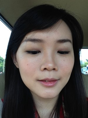 This is how I put my daily office eyeshadow. Very moderate earthy color :D