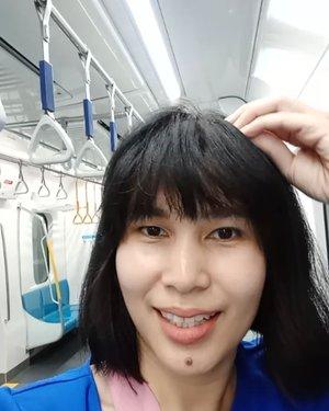 Akhirnya Jakarta punya @mrtjkt! Pokoknya fasilitas transportasi publik ini harus dirawat ya gaes! Jaga kebersihannya bersama yuk! Saya percaya Jakarta bakalan tambah kece kalau warganya juga mau #UbahJakarta jadi lebih baik 😊......#ClozetteID#MRTJakarta#vlog#instaselfie#train#wheninJakarta#visitJakarta#enjoyJakarta#instagood#publictransportation