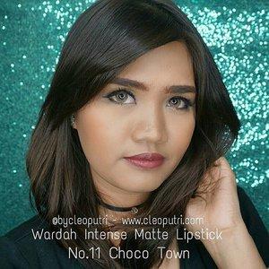 Wardah Intense Matte Lipstick No.11 Choco Town#indobeautygram #clozettedaily #clozetteid #starclozetter #sociollablogger #love #fotd #fotdibb #motd #motdibb #wardah #wardahlipstick #wardahintenesemattelipstick #lipstickmatte #lipsticklokal #wardahintense #makeup #makeupgeek #makeupaddict #lipjunkie #lipoftheday #lotd #lotdibb