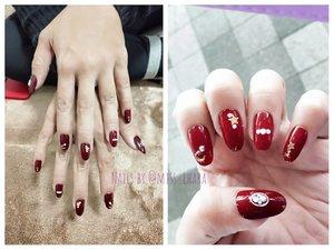 it's been a very long time since my last long & kawaii nails 💅🏻💕 . . But i forget to smooth the edges 🤭 . . #notd #nailsbyme  #nails #nailpolish #nailart #fakenails #kukucantik #clozetteid #ネイルアート #かわいいネイル #ネイル #ネイルデザイン #nailsbyeharapoetry