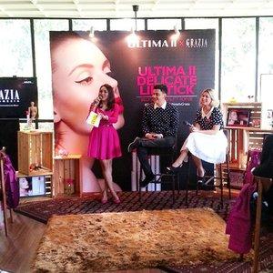 I'm at @ultima_id x @grazia_id Blogger Beauty Soiree  #beautyblogger #ultimaid #delicatelipstick #beautyevent #ClozetteID #makeupjunkie #makeupaddicted
