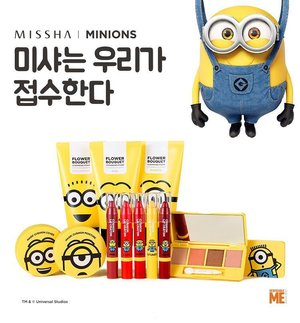 Another special edition from @missha.official MISSHA MINIONS EDITION!!!!!!! *Bob superrrr cuteeee in this pic*For details, information and any other about this special collection, read it on my blog!!!Click link on my bio ♡#misshaminions #missha #minions #minionslove #cushion #misshamagiccushion #lipcrayon #koreacosmetic #koreancosmetics #wonderfullyn #lynebeauty #clozetteid #makeupjunkie #korea #misshakorea #specialedition #beautyblogger