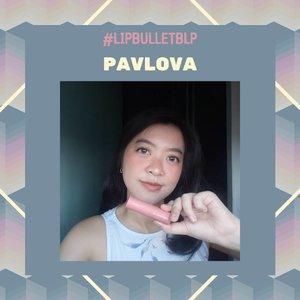 PAVLOVAShade #LipBulletBLP favorite aku.Awalnya aku pikir shade ini akan mirip dengan Peppermint Pink tapi ternyata enggak.Di bibirku shade ini terlihat rada peachy pink. Warna yang sangat lembut & feminim.My everyday color banget pokoknya!Hey Pavlova, you're always gonna be in my pouch ❤️..#OnTheLips #BLPGirls#clozetteid