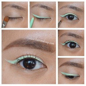"""Mint mint mint!!!! This look is very refreshing for spring/summer makeup. Try yellow or turquoise or lavender! @stilacosmetics have a huge rangenor colored eyeliner and I'm tempted to buy more! Hehehe...anyways, photo of full face is in previous post and more photos as well as info/details are in the blog - link to post is in my description box 😘 —————————————————— Eyeliner - @stilacosmetics smudgeproof liner """"mint julep""""  Brows - @anastasiabeverlyhills @norvina brow wiz in Taupe and Brunette  Mascara - @covergirl lash blast —————————————————— #clozetteid #kireimakeup #anastasiabeverlyhills #makeup #beauty #torontomua #makeup #eotd #mua #makeupartist #tutorial #beautyblog #beautyblogger #torontoblogger #makeupartistsworldwide #beautyshareit #picturemeetsbeauty #wakeupandmakeup  #makeupjunkie #summer #norvina #universodamaquiagem_official #makeupfanatic1 #torontobeautyblogger #indonesianbeautyblogger #mint #eyeliner #summermakeup"""