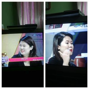 😳😳😳 unreal! I'm on TV! My bff caught the moment since I'm too embarassed to watch myself LOL  #clozetteid #pingme #rtv #makeup #makeupartist #makeupjunkie #beautyblogger #indonesia #indonesianblogger #indonesianbeautyblogger #indonesianmua #mua #muajakarta #jakarta #talkshow