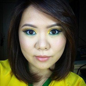 The first of my World Cup 2014 series! Go, Brazil! Details in the blog! #clozetteid #kireimakeup #brazil #worldcup2014 #belletto #vegas_nay #anastasiabeverlyhills #makeup #motd #mua #makeupartist #tutorial #beautyblog #beautyblogger #indonesian #indonesianblogger #auroramakeup #beautyshareit #picturemeetsbeauty #wakeupandmakeup #makeupjunkie #makeupaddict #universodamaquiagem_official #caprissmakeup#desimakeup
