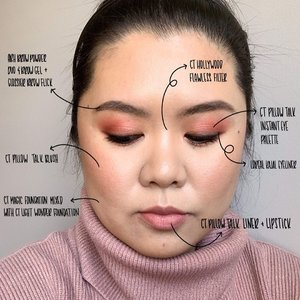 "Is the black annotation easier to read than the white one? Lmk in the comment below so I can decide which colour to use! • Swipe to see the makeup look with my eyes open & in different lighting! As always, the tutorial & breakdown for this look is on my Instastory highlight under ""vday look"". • Xoxo • • • • • #makeup #makeuptutorial #pillowtalk #clozette #clozetteid #pursuepretty #thatsdarling #hamont #toronto #jakarta #makeupartistworldwide #asianmakeup #asianmakeuptutorial #torontomua #hamontmua #bbloggers #bloggersofinstagram #bbloggersca #indonesianblogger #indonesianbeautyblogger"