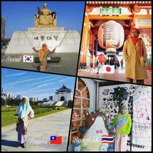 """Bangkok 🇹🇭 Seoul 🇰🇷Tokyo 🇯🇵Taipei 🇹🇼 Sesampainya di Jakarta, rumah masih terdapat sisa banjir 💦 Alhamdulillah udah ngepraktekin theory-nya Tante Marie Kondo dari Jepang itu, jadi gak ngerasa rugi kehilangan banyak barang di lantai bawah. Barang yang awalnya ragu (""""berat"""") untuk dibuang krn ada kenangan di masa lalu, akhirnya malah musnah dgn sendirinya 😁 Barang yang memiliki nilai investasi sudah daku titipkan ke safe deposit box di lembaga keuangan 🗃️Lantai atas rumah aman, bahkan sehari sebelum banjir kamar daku diberesin dan dibersihin oleh assistennya kakak yang jaga rumah. Sampai rumah lgs mandi, kemudian pulas tidur deh 😴 Dibangunin sm yang lagi beberes rumah, eh malah mikir,""""Gue lagi di hotel mana ya skrg?"""" Lumayan lama mikirnya, 3 menitan aja sih ada untuk sadar bhw lagi di kamar sendiri 😅Jadi semakin ingin bikin isi rumah minimalist (hanya benda bermanfaat maksimal yang ada di rumah) en pengen jadi nomaden aja deh 😅 Bisa kerja darimanapun juga secara mobile 😍 Bisa traveling terus 🚴#balqis57travel #wanderlust #traveling #clozetteid"""