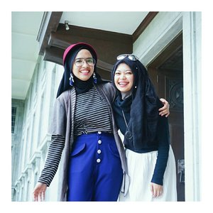 Through all of living have much joy and laughter, life is to be enjoyed, not just endured.  Oh, miss this girl soooo much. What's our next ndah? Can't wait.  #clozetteid #chictopia #hijabi #whatwelike #abmlifeissweet #acolorstory #fashionbloggers #encycloid #starclozetter #fashionmate #indonesiablogger