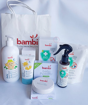 Produk Bambi Baby yang aman buat kulit bayi yang sensitif.  Review di blog aku :  http://www.mybeautypinastika.com/2021/04/review-bambi-baby-compact-powder.html