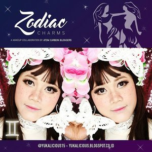 My makeup look as a gemini in Zodiac Makeup collaboration with my fellow @atomcarbonblogger  Ps : my zodiac is aquarius.  #makeup #makeupartist #makeupcollabs #makeupcollaborations #atomcarbonblogger #beautyblogger#beautybloggerid #muajkt #clozetteid #zodiac #zodiacmakeup #gemini #geminigirl #makeupcreation