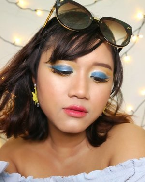 Summer.  Hairs get lighter.  Skin gets darker.  Water gets warmer.  Drinks get colder.  Music gets louder. Night get longer.  Life gets better.  another fun makeup looks for summer. 🏝🏖☀ eyeshadow using @juviasplace and @shuuemura glitter @focallure  #makeupideas  #makeup #beautybloggerindonesia  #asiangirls #javanesegirl #indobeautygram #summervibes☀️ #summermakeup #makeupartist #summergirl #qatarmakeupartist #undiscoveredmuas #wakeupandmakeup #makeupartistsworldwide #instadoha #tampilcantik #kbbvfeautured #beautinesiamember #clozetteid #yukalicious15