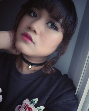 """""""If you are sad add more lipstick and attack""""  #me #beautybloggers #kbbvfeatured #clozetteid #morning #makeupartist #makeupartistdoha #hangout #asiangirls #shorthairgirls #yukalicious15"""