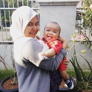 Mom. A person who loves you unconditionally. And a person who is okay she doesn't look her best on photos as long as you are looking good 😅 . ------- . #clozetteid #clozette #ootd #hijab #ootdhijab #baby #momandson #mom #fourmonthsold #fourmonthsoldbaby #satriorazendriapradana #babylove #love #bayiasi #babyinframe #peopleinframe #anakasi #pejuangasi #asix #asieksklusif #babyboy #likesforlikes #like4like #likeforlike #liveauthentic #sharethemoment #livefolk #livefolkindonesia
