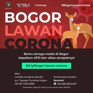 PLEASE SHARE 🙏🙏 BOGOR LAWAN CORONA! 💪💪 Covid-19 ditetapkan sebagai Kejadian Luar Biasa (KLB) di wilayah Bogor sejak Jumat (20/03/2020). Kalau yang ngikutin IGS, udah tau pasti kalau ada pembatasan jam buka-tutup pusat perbelanjaan. Dan SFH (schook from home) diperpanjang jadi tanggal 11 April 🥺 .  Namun, persediaan alat perlindungan diri (APD) dan alat kesehatan (alkes) lainnya sangat terbatas. Padahal tenaga kesehatan berada di garda terdepan & prajurit perang melawan virus ini. Sedih banget melihat stock mulai menipis dan pada pakai bahan yang ada 😭 they need the best equipments for war. .  Oleh karena itu, kolaborasi Yayasan @terminal_hujan -  @ibuibukotahujan - @commcap_ mengajak teman-teman untuk bersama-sama membantu beberapa RS di wilayah Bogor dengan menyediakan APD dan alkes berikut: ⛑️ Masker ⛑️ Surgical gown ⛑️ Helm ⛑️ Sarung tangan ⛑️ Medical goggle ⛑️ Vitamin dan suplemen .  Bantuan dari teman-teman dan seluruh warga Bogor bukan cuma bisa melindungi para tenaga medis dari Covid-19, tapi juga membuat mereka semakin semangat berjuang menyelamatkan para pasien Covid-19 ❤️❤️ .  Cara berdonasi: 1. Kunjungi link berikut : bit.ly/bogor-lawan-corona 2. Transfer ke Bank Mandiri a/n Yayasan Terminal Hujan 133-00-1433-0369 (tambahkan angka 02 diakhir donasi) .  Setelah itu mohon untuk konfirmasi transfer ke 085693758111 (Bustomi) atau klik link bit.ly/BogorLawanCorona (ada di bio @terminal_hujan). Semoga semua dukungan, bantuan, dan donasi yang teman-teman berikan tercatat sebagai amal baik dan kita semua selalu diberikan kesehatan dalam melalui pandemik ini. Aamiin YRA ❤️ . ------- . #IbuIbuKotaHujan #PalingTauBogor #BogorLawanCorona #donasicorona #donasiapd #coronavirus #donasicovid19 #donation #opendonation #covid19 #bogor #infobogor #visitbogor #kitabisa #lawanviruscorona #donasi #clozetteid #clozettedaily